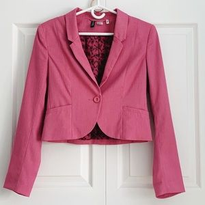 H&M Divided Cropped Pink Single Breasted Blazer